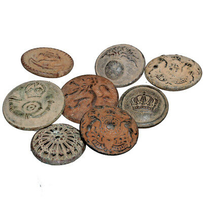 Lot Of 8 Bronze Uniforms And Military Large Buttons Ca 1700-1800 Ad