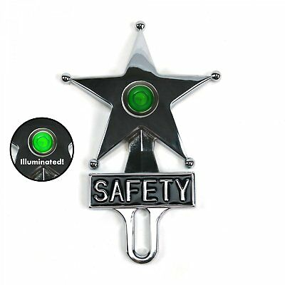 Safety Star License Plate Topper Blue Chevy Ford Buick Hudson AAA Felix n// nos