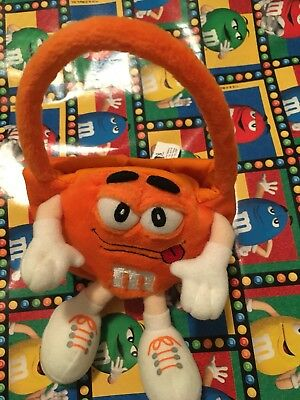 Galerie m & m 's candy plush orange with strap and holder Hasbro 2002 purse