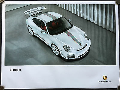PORSCHE OFFICIAL 911 997 GT3 RS 4.0 PLAN VIEW SHOWROOM POSTER 2011 RARE 30x40