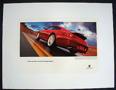 Porsche Official 996 911 Carrera Red Coupe Factory Poster 1999 - 2003