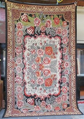 "Rare & Majestic Russian Empire Antique Bessarabian Aubusson Rug  13"" x 8"""