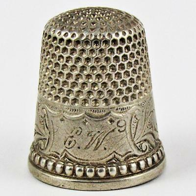 Antique Ketcham & Mcdougall Lily Of The Valley Size 9 Sterling Silver Thimble