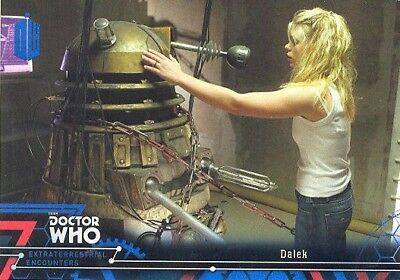 Topps Doctor Who Extraterrestrial Encounters Blue Parallel Card 72 Dalek 09/99