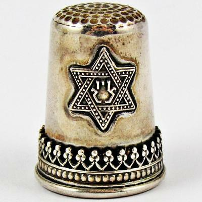 Vintage Jewish Star Of David Made In Israel Sterling Silver Judaica Thimble