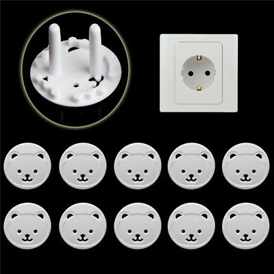 Safety Child Baby Proof Electric Outlet Socket Plastic Cover for EU Plug 10pcs ~