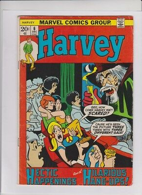 HARVEY #6 VG+, Marvel 1972, final issue, similar to Archie, solid low cost copy