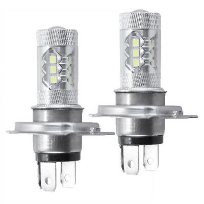 2x H4 9003 HB2 CREE LED Bulbs High / Low Beam Headlight Kit 6000K for Motorcycle