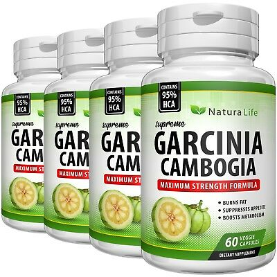 Pure Garcinia Cambogia 95 Hca Capsules Fat Burner Slim Weight Loss Natural Diet