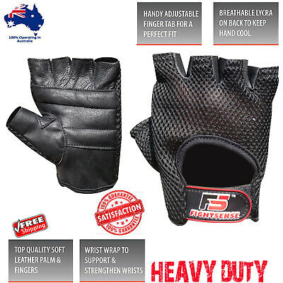 Weight Lifting Bodybuilding Gym Fitness Leather Gloves Strength Training Wrist