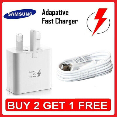 Wall Adaptive Fast Charger Head Plug&Charging Cable For Samsung Galaxy S7 Edge#