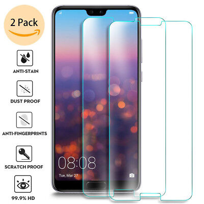2x For Huawei P20 Pro Lite Tempered Glass Screen Protector Premium Protective