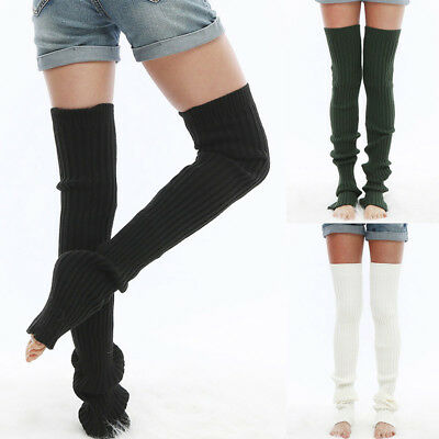 fbc9670cb6a Women Winter Cable Knit Over Knee Long Boot Thigh-High Warm Yoga Socks  Leggings