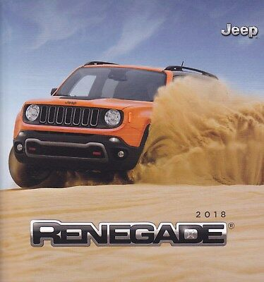 2018 Jeep  Renegade Original Prestige Factory Sales Brochure 38 Pages