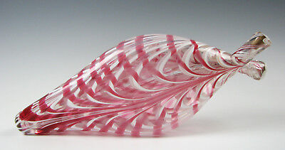Antique Pink and White Loop Nailsea Double Gemel Flask