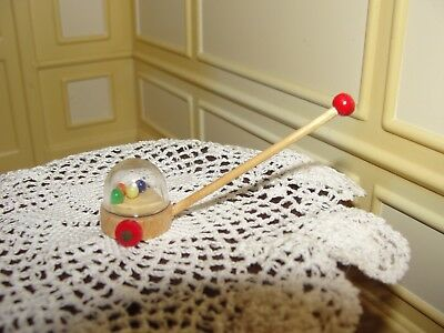 Dollhouse Miniature Child's Push Toy      Artist