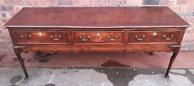 ~ Quality ~Antique ~Oak ~3 Drawer Dresser ~Side Table ~Console Table