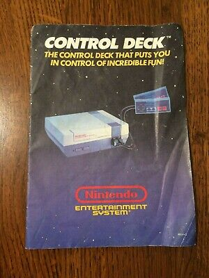 Control Deck System Booklet NES Nintendo Instruction Manual Only