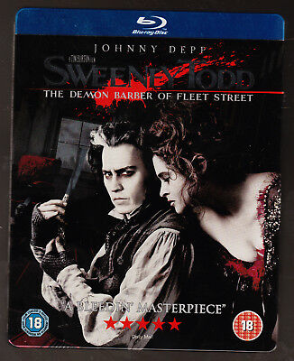 Sweeney Todd - Johnny Depp, Tim Burton, Alan Rickman - Blu-Ray Steelbook - Vgc