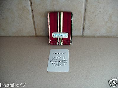 Longaberger Holiday Stripe Business Card / Credit Card Case Nip * Free Shipping