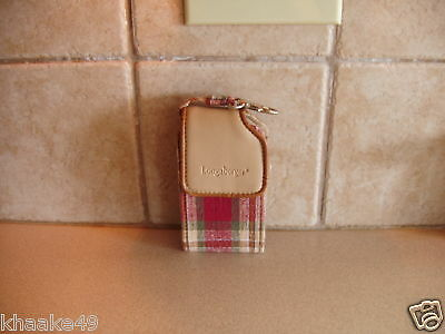 Longaberger Orchard Park Plaid Cell Phone Wristlet Clip-On Carry Case  Free Ship