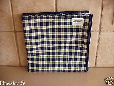 "Longaberger Blue Ribbon Green 36"" Fabric Table Square * Usa New * Free Shipping"