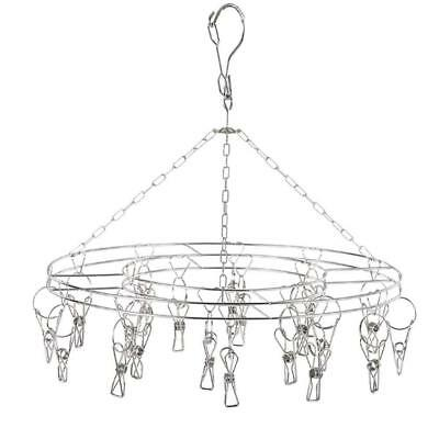 Makhry Stainless Steel Metal 20 Clips Drying Hanger Rack for Hanging Clothes...
