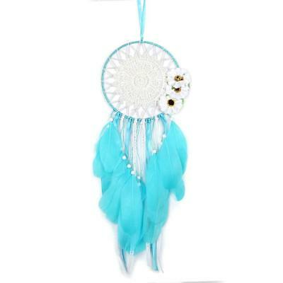 Indian Dream catcher handmade traditional blue feather dream wall hanging...