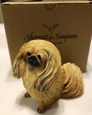 "2004 Sherratt & Simpson Pekingese Dog Figurine 4"" Tall  #89173 NIB"