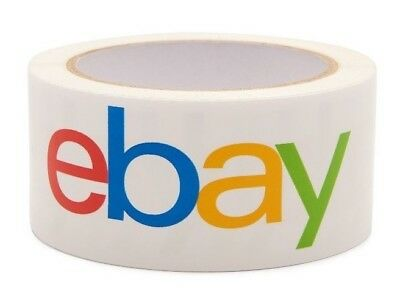 """2 Rolls EBAY Branded Shipping Packing Tape ~ Classic Logo ~ 2"""" x 75 yards each"""