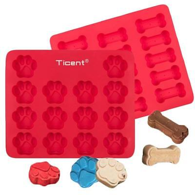 Ticent Dog Paws & Bones Cake Pan, Food Grade Silicone Treats Baking Molds...