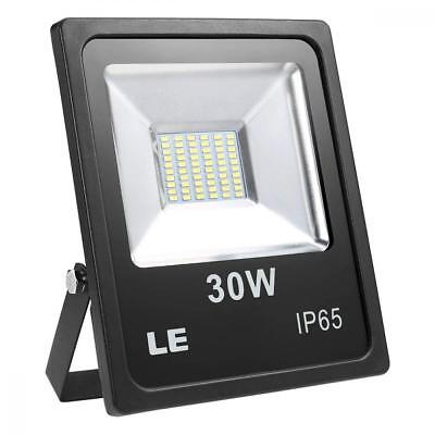 LE Outdoor LED Flood Light, Super Bright, IP65 Waterproof, 30W 2400LM, 75W...