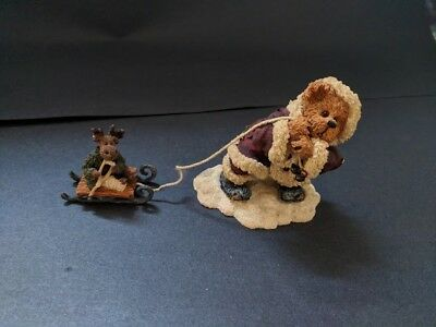 BOYD'S BEARS & FRIENDS S C Kringlebear and Lil' Blitzen CERAMIC NUMBERED BOYD
