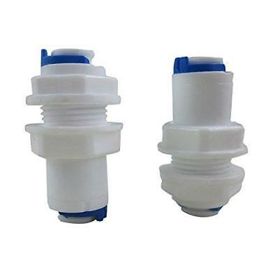 """TmallTech 1/4"""" inch White Fittings Bulkhead Connector Tube Quick Connect for..."""