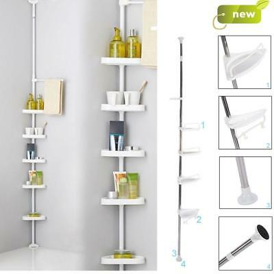 4 Tier Bathroom Shower Kitchen Hanging Corner Shelf Caddy Storage Rack Towel Rai