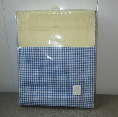 "Vintage 10+ Years POTTERY BARN KIDS Blue/White GINGHAM Tablecloth ~NEW 60"" x 60"""