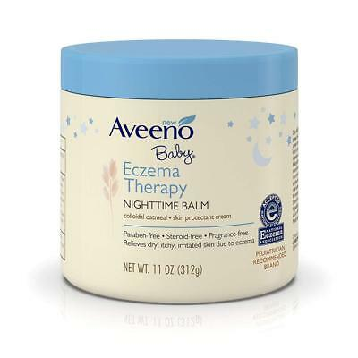 Aveeno Baby Eczema Therapy Nighttime Balm, with natural Colloidal Oatmeal...