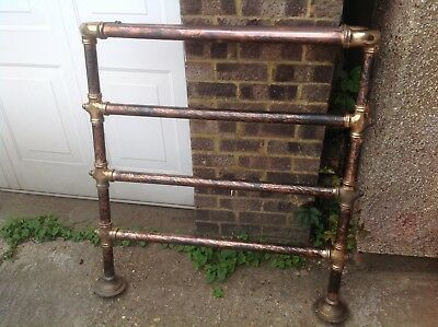 Victorian Copper And Brass Tail Rail Large