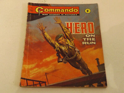 Commando War Comic Number 207 !,1966 Issue,good For Age,52 Years Old,very Rare