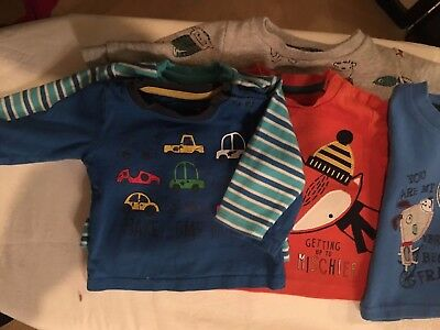 0-3 bundle of boy's tops and one tracksuit (M&S)