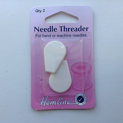 Needle Threader With Plastic Handle.