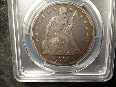 1860-O  PCGS XF45  Seated Liberty Dollar Natural PQ Coin SLABZ