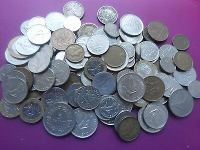 Job Lot Of Old French Coins 680 Grams.