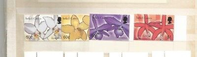 Turks And Caicos Flowers Mnh