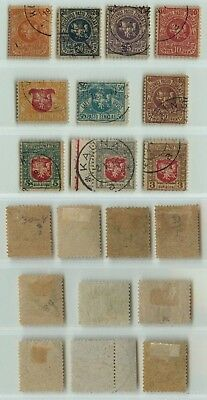 Lithuania 1919 SC 30-39 used . d2359
