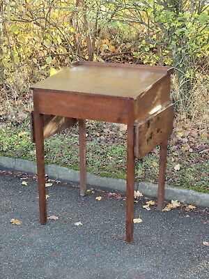 ANTIQUE OAK CLERKS OR SCHOOL DESK WITH SLOPED TOP ; South Lincolnshire