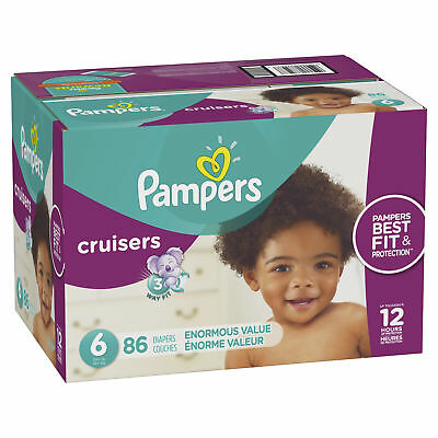 Pampers Cruisers Diapers, Size 6, 86 Count