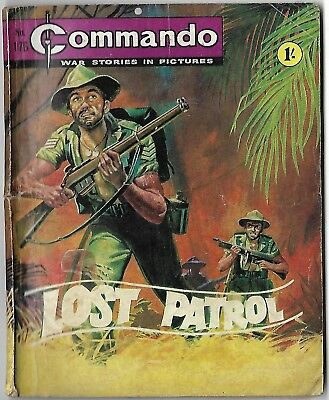 "Dated 1965. Vintage COMMANDO War Picture Comic # 176. ""Lost Patrol"""
