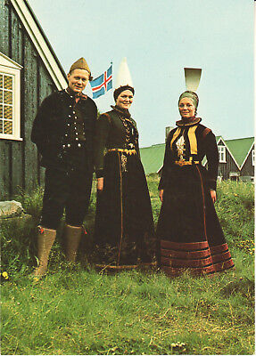 AK Island Iceland Old national costumes