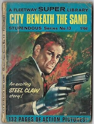 Dated 1967. FLEETWAY SUPER LIBRARY Comic. Stupendous series #13. STEEL CLAW.